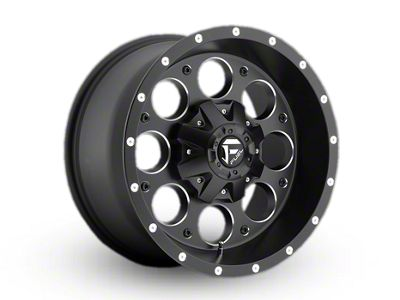 Fuel Wheels Revolver Black Milled Wheel - 17x9 (87-95 Jeep Wrangler YJ)