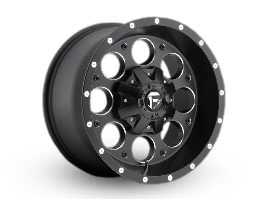Fuel Wheels Revolver Black Milled Wheel - 17x9 (97-06 Jeep Wrangler TJ)