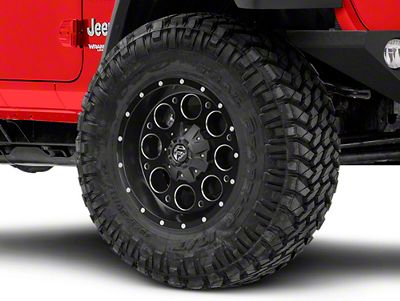 Fuel Wheels Revolver Black Milled Wheel - 18x9 (18-19 Jeep Wrangler JL)