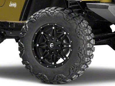 Fuel Wheels Hostage Matte Black Wheel - 18x9 (97-06 Jeep Wrangler TJ)