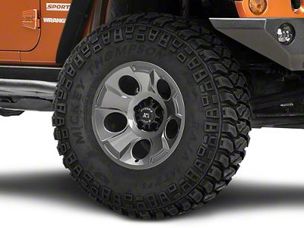 Rugged Ridge Drakon Gunmetal Gray Wheel - 17x9 (07-18 Jeep Wrangler JK; 2018 Jeep Wrangler JL)