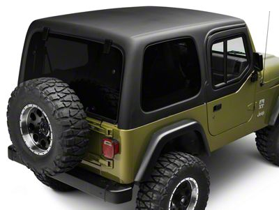 Rally Tops One Piece Hardtop for Half Doors (97-06 Jeep Wrangler TJ, Excluding Unlimited)