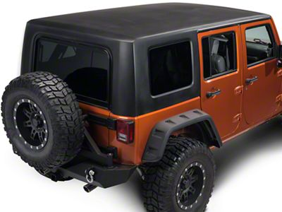 Rally Tops Two Piece Hardtop - Black (07-18 Jeep Wrangler JK 4 Door)