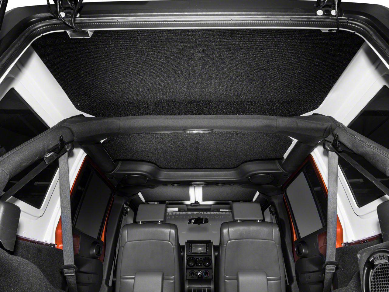 Boom Mat Sound Deadening Headliner - Black (11-18 Jeep Wrangler JK 4 Door)