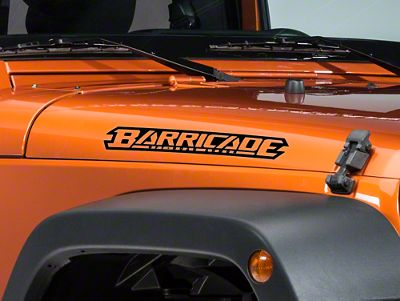Barricade Hood Decal - Black (87-18 Jeep Wrangler YJ, TJ, JK & JL)