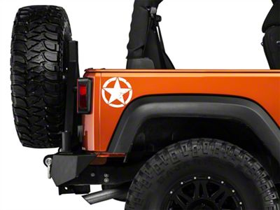 Small On The Move Stars - White - Pair (87-19 Jeep Wrangler YJ, TJ, JK & JL)