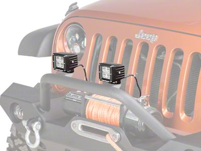 Rugged Ridge 3 in. Square LED Light Cube (87-19 Jeep Wrangler YJ, TJ, JK & JL)