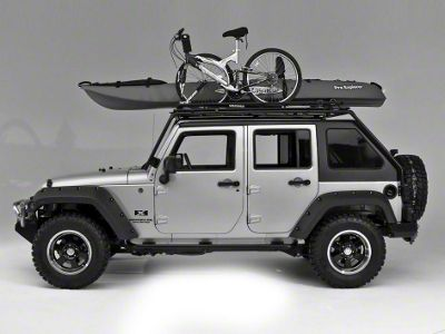 Wild Boar Fast Back Rack w/ basket (07-18 Jeep Wrangler JK 4 Door)
