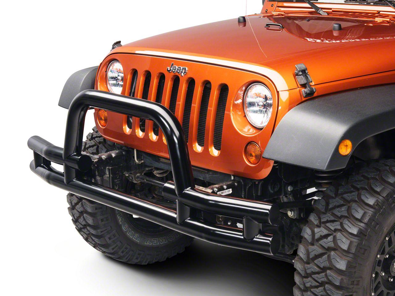 Barricade Tubular Front Bumper w/ Winch Cutout - Gloss Black (07-18 Jeep Wrangler JK)
