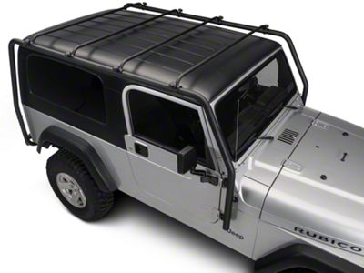 Barricade Roof Rack - Textured Black (04-06 Jeep Wrangler TJ Unlimited)