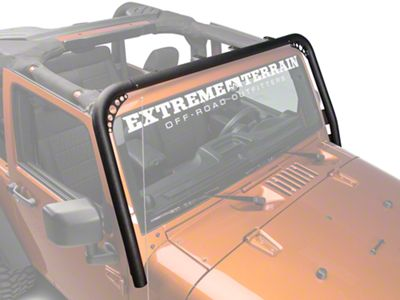RedRock 4x4 Light Bar - Textured Black (07-18 Jeep Wrangler JK)