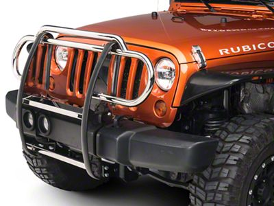 RedRock 4x4 Grille Guard - Stainless Steel (07-18 Jeep Wrangler JK)