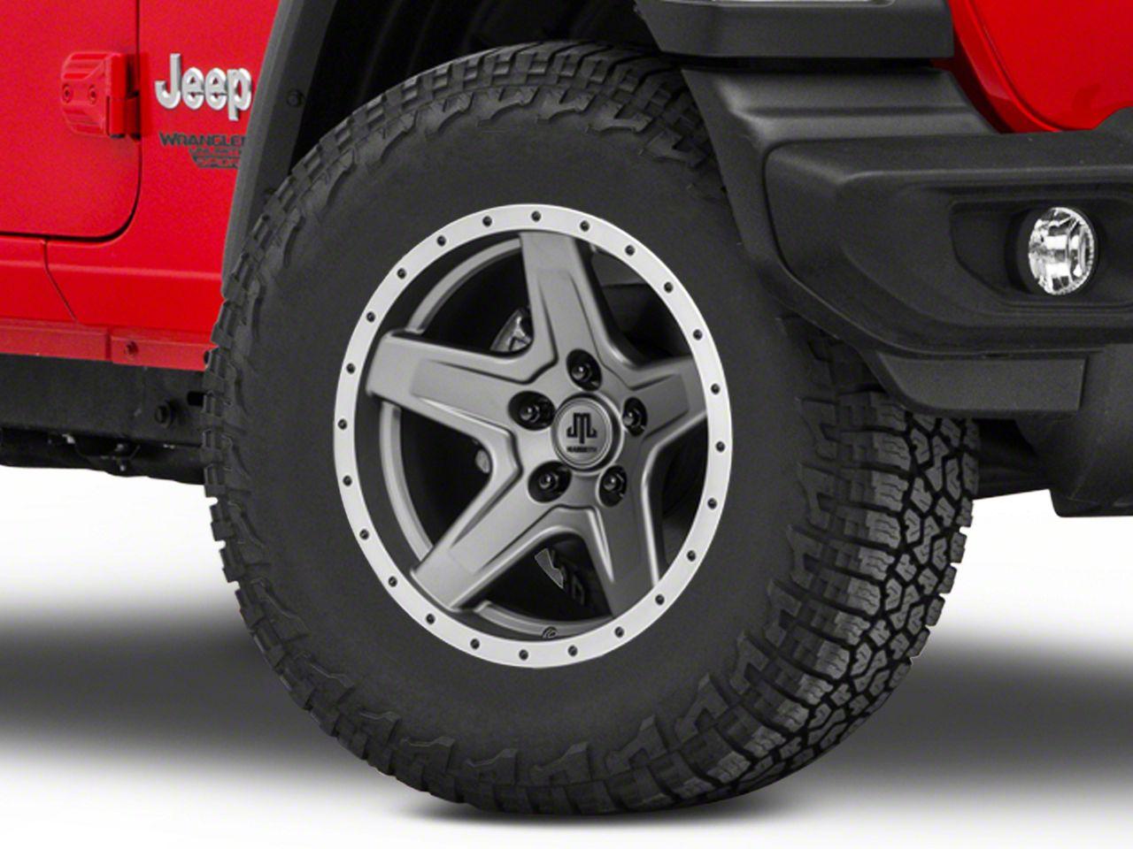 Mammoth Boulder Beadlock Style Charcoal Wheel - 17x9 (18-19 Jeep Wrangler JL)