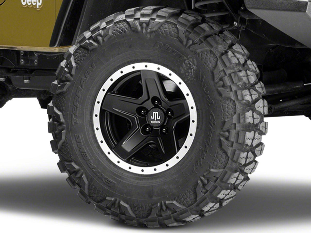 Mammoth Boulder Beadlock Style Black Wheel - 15x8 (87-06 Jeep Wrangler YJ & TJ)