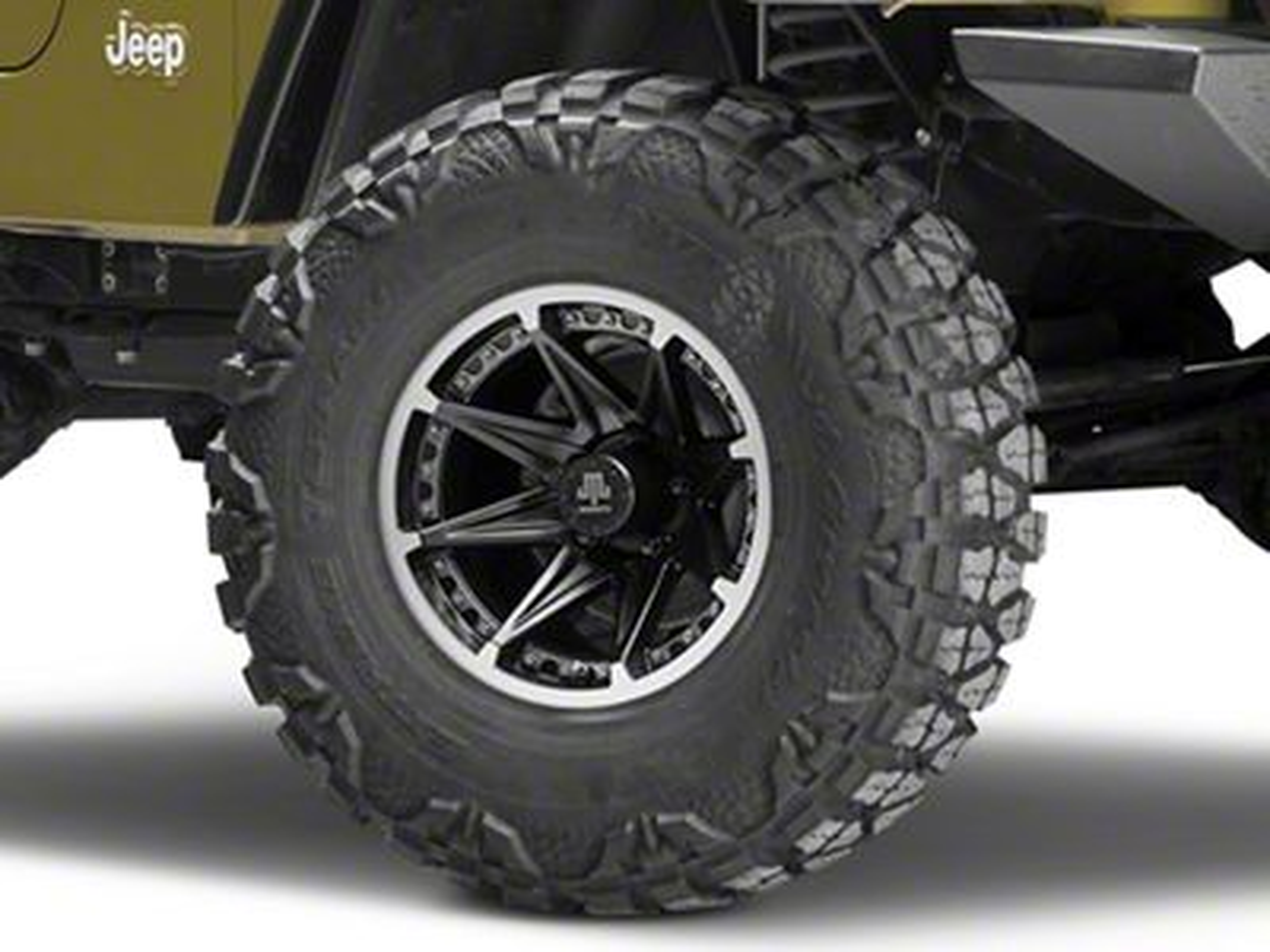 Mammoth Type 88 Black Wheel - 15x8 (87-06 Jeep Wrangler YJ & TJ)