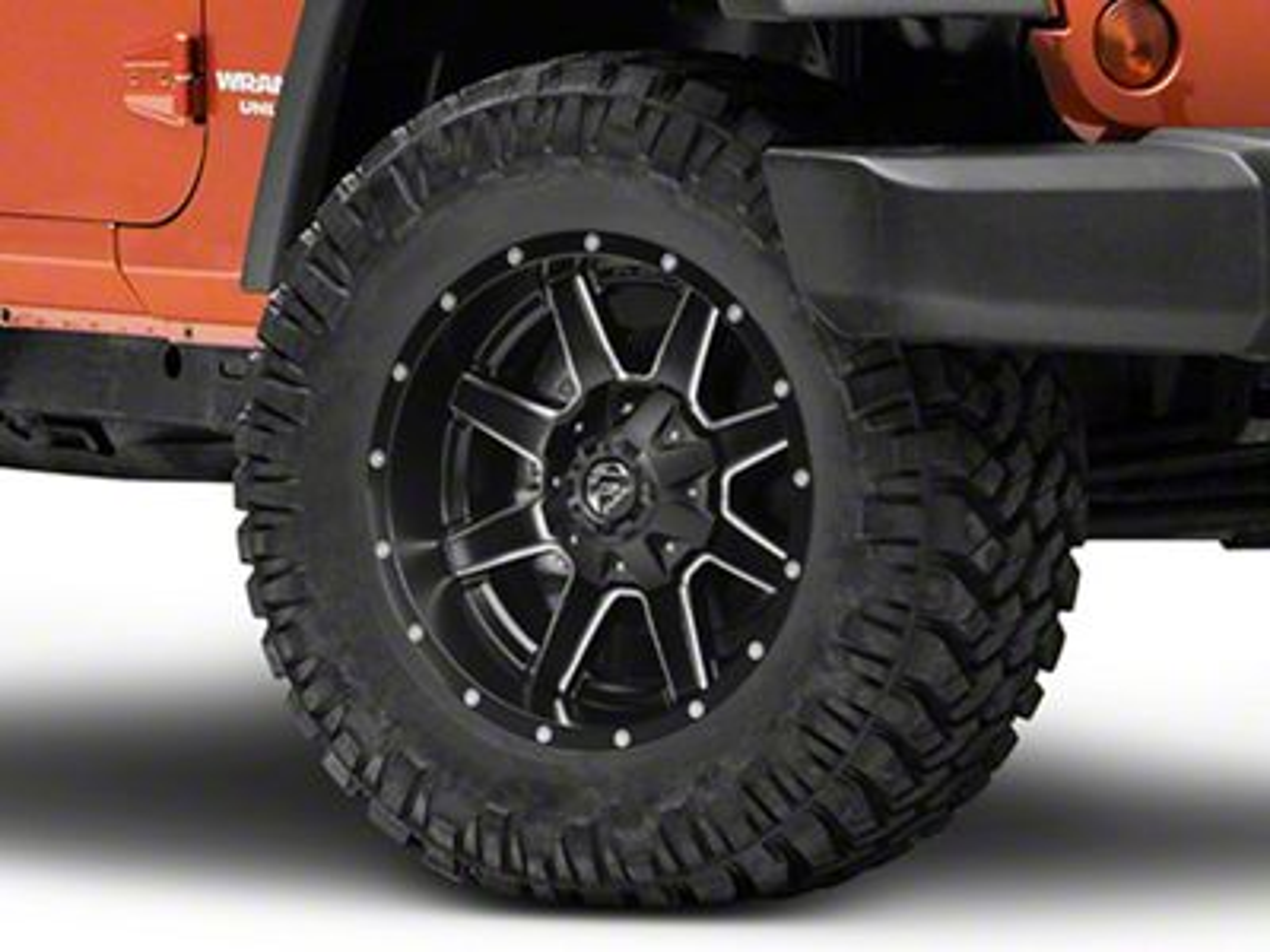 Fuel Wheels Maverick Black Milled Wheel - 18x9 (07-18 Jeep Wrangler JK; 2018 Jeep Wrangler JL)