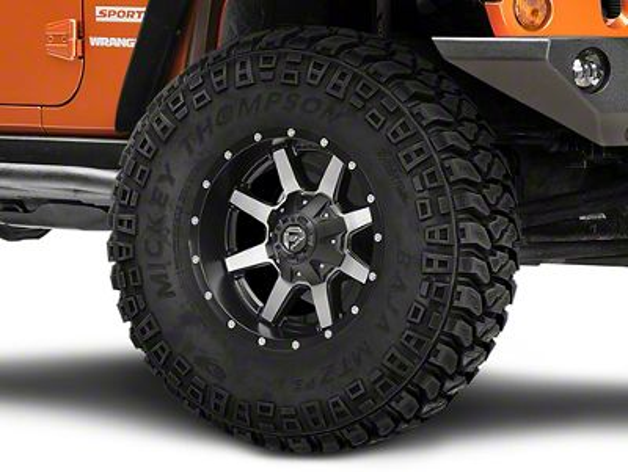 Fuel Wheels Maverick Black Machined Wheel - 17x9 (07-18 Jeep Wrangler JK; 2018 Jeep Wrangler JL)
