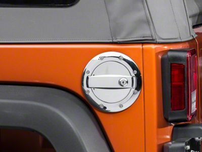 Barricade Locking Fuel Door - Chrome Plated (07-18 Jeep Wrangler JK)