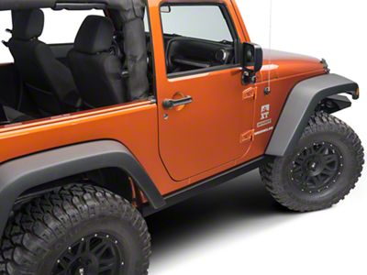 Barricade Rubi Rails - Textured Black (07-18 Jeep Wrangler JK 2 Door)