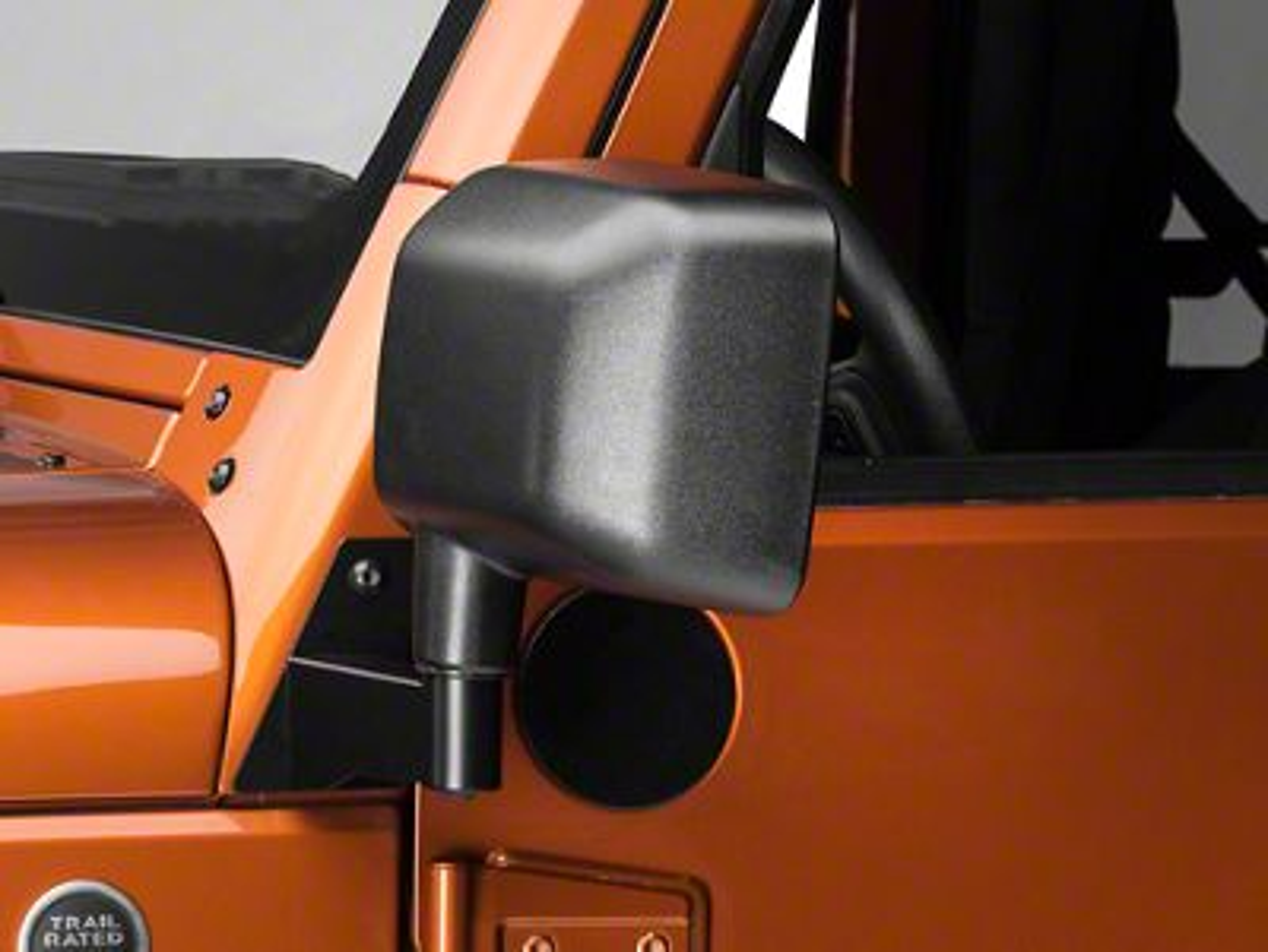 Barricade Black Mirror Relocation Kit - Pair (07-18 Jeep Wrangler JK)