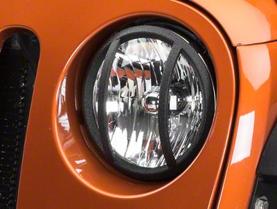 Barricade Headlight Guard - Textured Black (07-18 Jeep Wrangler JK)