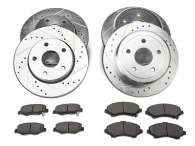 Power Stop Z23 Evolution Sport Brake Rotor & Pad Kit - Front & Rear (07-18 Jeep Wrangler JK)