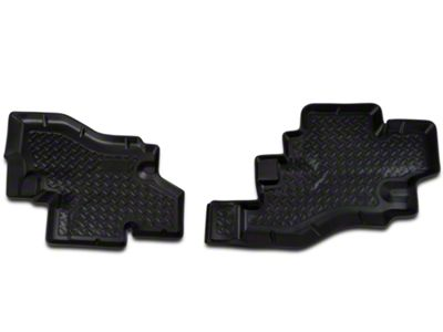 Husky Rear Floor Liner Black (87-90 Jeep Wrangler YJ)