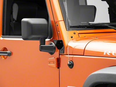 KC HiLiTES Windshield Side Mounting Brackets - Black (07-18 Jeep Wrangler JK)