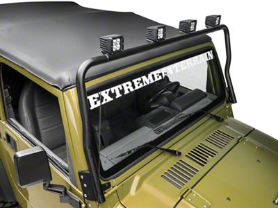 KC HiLiTES Overhead Light Bar - Black (97-06 Jeep Wrangler TJ)