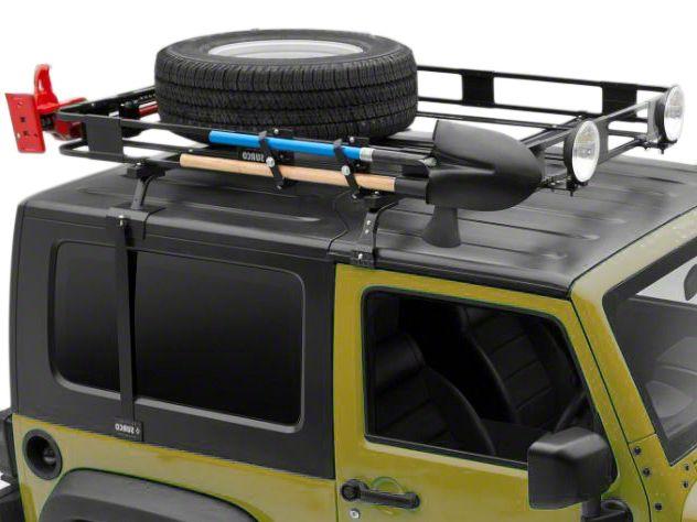 Surco Safari Removable Hard Top Rack w/ Basket (97-06 Jeep Wrangler TJ)