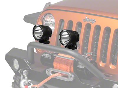 Vision X PolyCarbonate Cover for 4.5 In. Light Cannon - Yellow (87-18 Jeep Wrangler YJ, TJ, JK & JL)