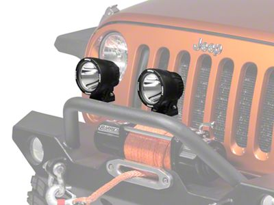 Vision X PolyCarbonate Cover for 4.5 In. Light Cannon - Euro Beam (87-19 Jeep Wrangler YJ, TJ, JK & JL)