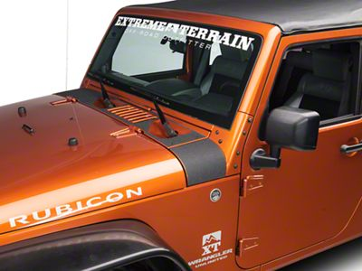 Barricade Cowl Body Shield Decal - Black (07-18 Jeep Wrangler JK)