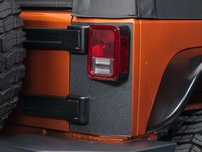 Barricade Rear Corner Body Shield Decal - Black (07-18 Jeep Wrangler JK)
