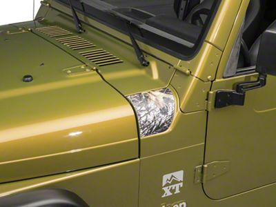 Outer Cowl Decal - Mossy Oak (97-06 Jeep Wrangler TJ)