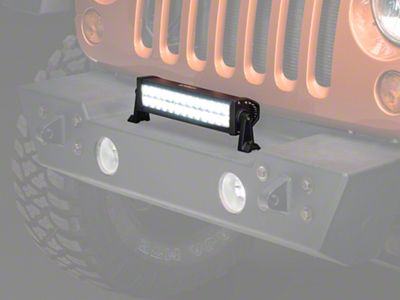 Raxiom 13.5 in. Double Row LED Light Bar - Flood/Spot Combo (87-19 Jeep Wrangler YJ, TJ, JK & JL)