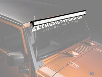 Raxiom 50 in. Double Row LED Light Bar - Flood/Spot Combo (87-18 Jeep Wrangler YJ, TJ & JK)