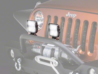 Raxiom 4.25 in. Square LED Light (87-19 Jeep Wrangler YJ, TJ, JK & JL)
