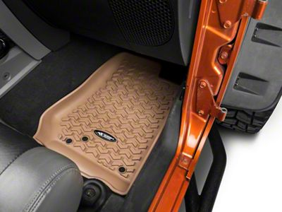 Rugged Ridge All-Terrain Floor Mats - Tan (14-18 Jeep Wrangler JK)