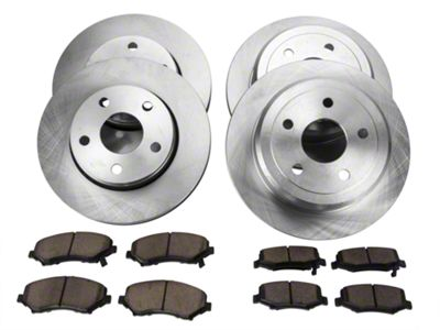 Power Stop OE Replacement Brake Rotor & Pad Kit - Front & Rear (07-18 Jeep Wrangler JK)