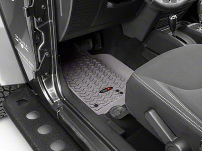 Rugged Ridge Floor Liner Kit - Gray - Front & 2nd Row (14-18 Jeep Wrangler JK 4 Door)