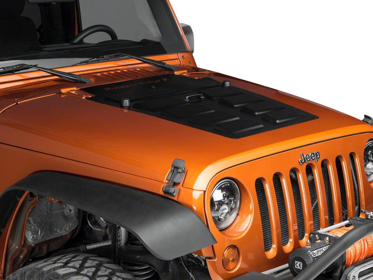 Rugged Ridge Hood Vent Insert - Black (07-18 Jeep Wrangler JK)