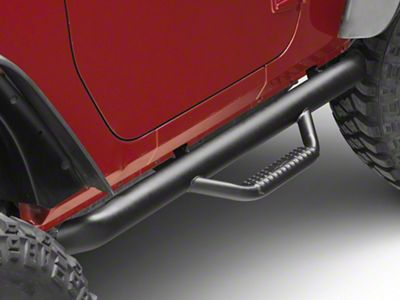 N-Fab Wheel to Wheel Nerf Side Step Bars - Matte Black (12-18 Jeep Wrangler JK 2 Door)