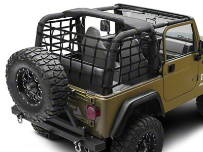 TruShield Cargo Wrap Around Net - One Piece (92-06 Jeep Wrangler YJ & TJ)