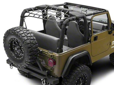 TruShield Rear Overhead Net (92-06 Jeep Wrangler YJ & TJ)