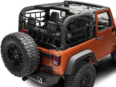 TruShield Cargo Wrap Around Net - One Piece (07-18 Jeep Wrangler JK 2 Door)