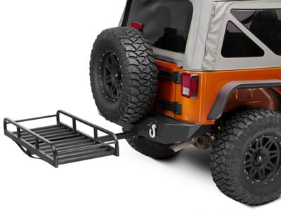 RedRock 4x4 Hitch Mounted Cargo Rack - 7 in. XL (87-19 Jeep Wrangler YJ, TJ, JK & JL)