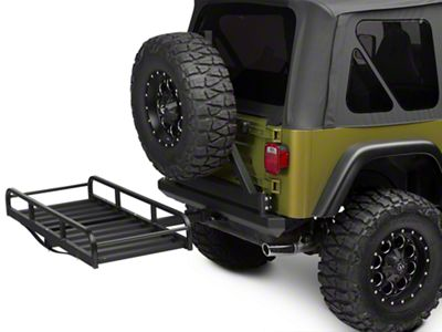 RedRock 4x4 Hitch Mounted Cargo Rack - 7 in. XL (87-06 Jeep Wrangler YJ & TJ)