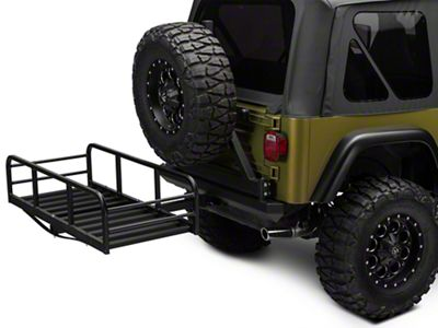 RedRock 4x4 Hitch Mounted Cargo Rack 12 in. XL (87-06 Jeep Wrangler YJ & TJ)