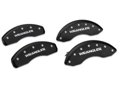 MGP Matte Black Caliper Covers w/ Jeep Wrangler Logo - Front & Rear (07-18 Jeep Wrangler JK)